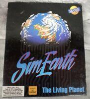 SimEarth: The Living Planet IBM Tandy 3.5 5.25 Pc Big Box