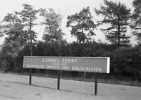 PHOTO  LMS CONNEL FERRY RAILWAY STATION NAMEBOARD CALEDONIAN RAILWAY