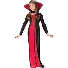 Fun World Victorian Vampiress Dress 2pc Child Costume Red Black