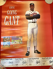 1992 Atlanta Braves Ron Gant Krystal Baseball Poster with coupons Vintage