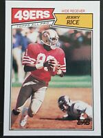 Jerry Rice Topps 1987 Sports Trading Card #115 San Francisco 49ers