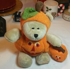 2008 Starbucks Coffee Stuffed Pumpkin Halloween Teddy