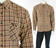 New listing 70s Vintage Mens Xl Wrangler Plaid Button Front Shirt