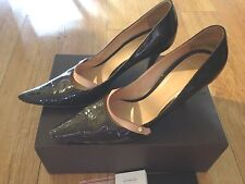 Louis Vuitton Brown Monogram Mary Jane Patent Leather Pumps High Heels 39/8.5