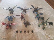 Mega Bloks (Lego) Colección de 9 dragones y 5 Figuras Guerrero