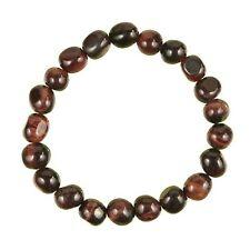 Bracelet en oeil de boeuf - Perles pierres roulées