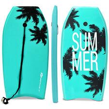 """Body Board Surfing W/Leash Ixpe Deck Eps Core Boarding 33"""" Coconut Tree Ocean"""