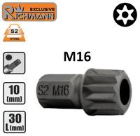 """Embout M16 SPLINE XZN 12p entrainement 10mm 3/8"""" Acier S2 HAUTE QUALITÉ RICHMANN"""