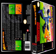 Mega Man Soccer - SNES Reproduction Art Case/Box No Game.