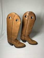 Tony Lama Womens size 5 B brown Leather Western Boots Cowboy model 5089