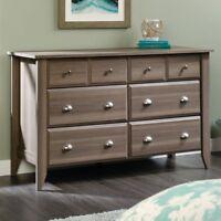 Sauder Shoal Creek 6 Drawer Dresser, diamond ash