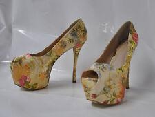"Shoedazzle ""Nila"" floral design hi-heel platform pump - Size 11 6.25"" heel - New"
