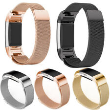 Milanese Metal Replacement Strap for the Fitbit Charge 2 Magnet Clasp Steel