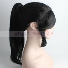 3-7 Days Ship Women's Cosplay Wigs Yukimura Jiziru Black Hair Straight Synthetic