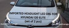 Premium Quality Imported Headlight LED DRL for Hyundai i20 Elite - Set of 2pcs
