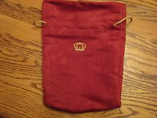 Crown Royal XR Bag Red & Gold velvet quilt hunting fishing marble coin 8 x 10.5