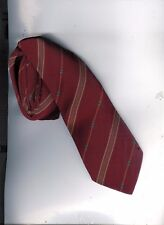 cravate soie Brummel bordeaux avec fines rayures