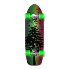 Yocaher Old School Longboard Complete - In the Pines Rasta