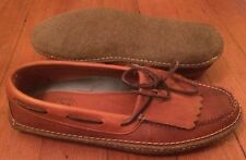 Mens HS Trask 11.5 M  Brown Loafers Sewn On Sole 3521