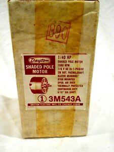 Dayton Shaded Pole Motor #M543A 1/40HP Sealed in Box