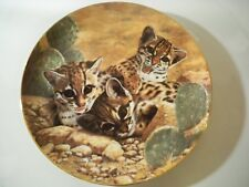 Collectors Plate The Hamilton Collection 'Eyes Of Wonder' Animal Cat Cubs