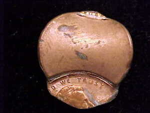 Undated Saddle Struck Lincoln Memorial Cent. Post 1983 with zinc coated planchet