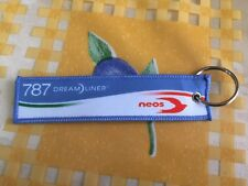 Neos Airlines Italy Boeing 787 Dreamliner Remove Before Flight Keychain Keyring
