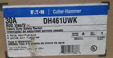 Eaton Cutler Hammer DH461UWK 30A 600VAC 4 Pole Non Fusible Safety Switch NEW NIB