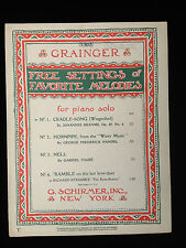 PERCY GRAINGER Free Setting of Favorite Melodies Cradle Song Brahms Piano music