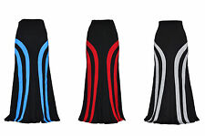Lovely Curved RED BLUE BLACK GREY Jersey Long Maxi Skirt 18 12 14 16 10 20 22 24