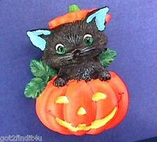 BUY1&GET1@50%~Avon PIN Halloween CAT Black in JOL PUMPKIN Vtg Holiday BROOCH
