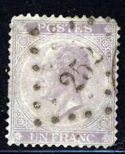 Belgium  1865  Scott #17  Used