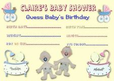 24 x Baby Shower Guess the Baby Game Cards Postcard size