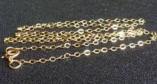 14 Kt Gold filled flat cable chain finished necklace jewelry finding 18 inch