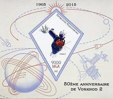Madagascar 2015 MNH Voskhod 2 Space Mission 50th 1v S/S Belyayev Leonov Stamps