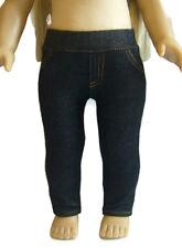 """For 18"""" American Girl Doll Clothes Black Jeggings Skinny Jeans Denim Leggings"""