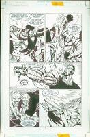 Superboy and the Ravers #18 Josh Hood Original Comic Art Page #5 DC Comics 1997