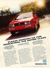1992 VW Volkswagen Corrado SLC - Original Advertisement Print Art Car Ad J566
