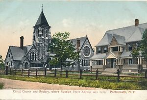 PORTSMOUTH NH – Christ Church and Rectory (Where Russian Peace Service Was Held)