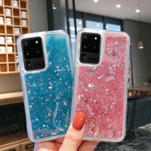 Liquid Glitter Quicksand TPU Clear Case Cover For Samsung S20 S10 Note10 A50 A70