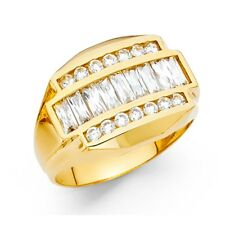 New Solid 14k Yellow Gold Mens Heavy
