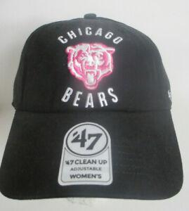 Bears Chicago Hat Women Strapback NFL Unisex '47 Clean Up Series Cap