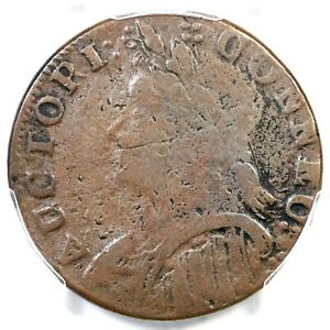 1787 M 8-a.1 R-8 PCGS F 12 Mailed Bust Left Connecticut Colonial Copper Coin