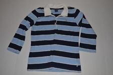 ABERCROMBIE CHERRY LOGO NAVY BLUE STRIPED POLO SHIRT YOUTH GIRLS SIZE XL