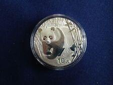2002 China Silver Panda 10 Yuan Mirror Gem BU One Ounce  E5934