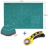 Neu Schneidematte A3 PVC Schneideunterlage + Rollschneider Set Cutter Unterlage