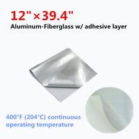 Motorcycle Exhaust Engine Hood Heat Shield Adhesive Aluminum Fiberglass Cloth
