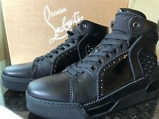 CHRISTIAN LOUBOUTIN LOUBIKICK 3170388 FLAT HIGH-TOP SNEAKERS W/STUDS, NIB