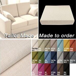 TAILOR MADE COVER*Linen Cotton Blend Sofa Seat Bench Box Shape Pillow Case*Nk
