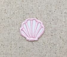 """Small 1"""" Seashell Light Pink Sea/Shell/Beach Iron on Applique/Embroidered Patch"""